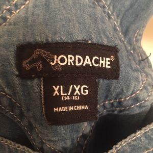 Jordache Bottoms - Jordache Vintage Chambray Overalls Women Small